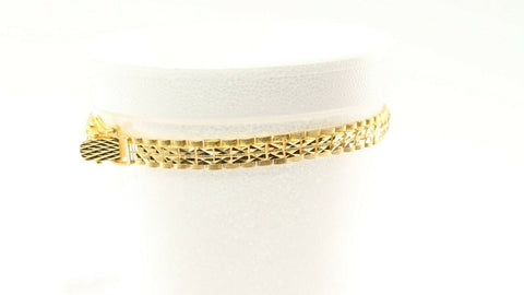 22k Bracelet Solid Gold Exquisite Pattern Design LENGTH 8.7 inch B1056 | Royal Dubai Jewellers