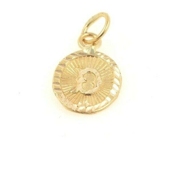 22k 22ct Solid Gold Charm Letter D Pendant Oval Design p1139 ns | Royal Dubai Jewellers