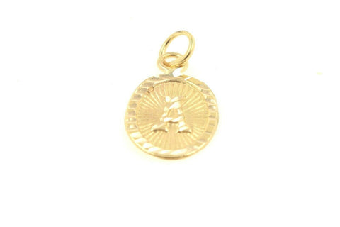 22k 22ct Solid Gold Charm Letter A Pendant Oval Design p1029 ns | Royal Dubai Jewellers