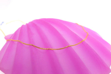 22k Chain Yellow Solid Gold Necklace Exquisite Modern Thin RopeLink Design c1093 | Royal Dubai Jewellers