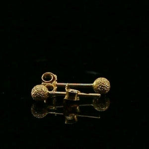 22k 22ct Solid Gold ELEGANT Simple Sand Blast Stud Earring  Design E6250 | Royal Dubai Jewellers