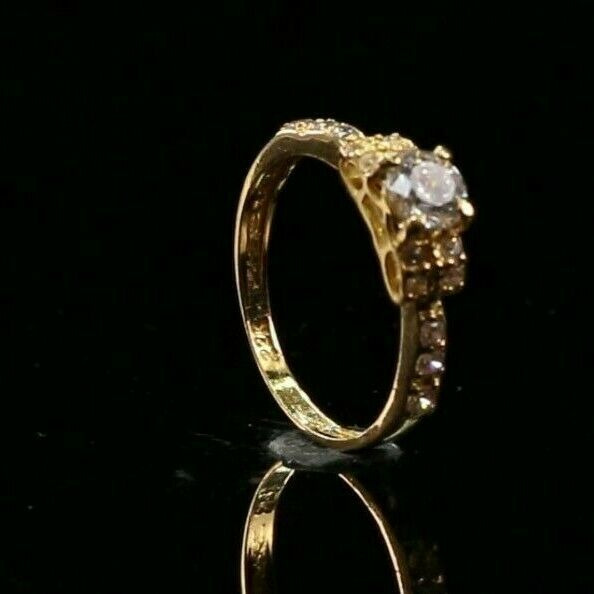 22k Ring Solid Gold ELEGANT Charm Ladies Simple Ring SIZE 8.5