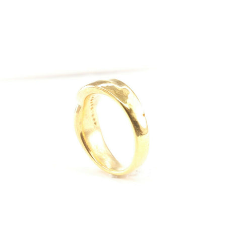 "22k Ring Solid Gold ELEGANT Charm Mens Cross Band  SIZE 9-3/4 ""RESIZABLE"" r2186 