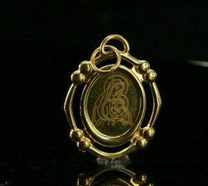 22k Pendant Solid Gold ELEGANT Classic Religious Mother Mary Pendant p4081
