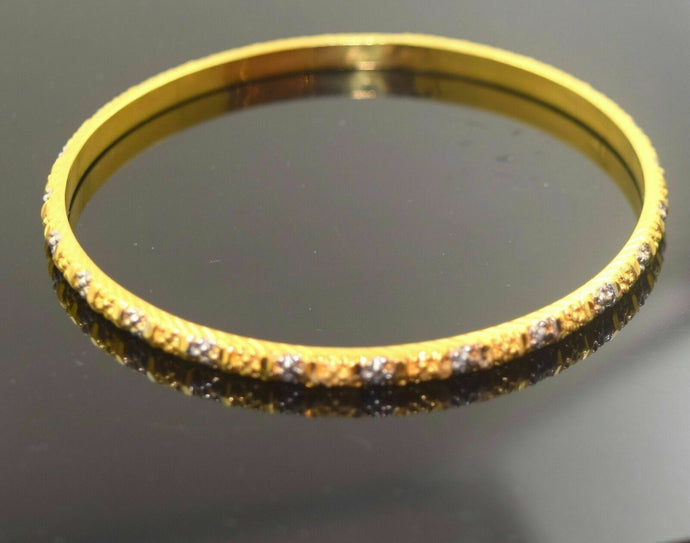 22k Solid Gold ELEGANT WOMEN BANGLE BRACELET Size 2.5 inch B308 Antique Design | Royal Dubai Jwellers
