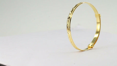 22k Bangle Solid Gold ELEGANT Children Simple Bangle Size 1.7d inch CB1197 | Royal Dubai Jewellers