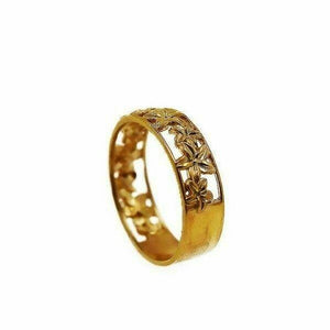 "22k 22ct Solid Gold ELEGANT Charm Ladies Floral Ring SIZE 8 ""RESIZABLE"" r1727 