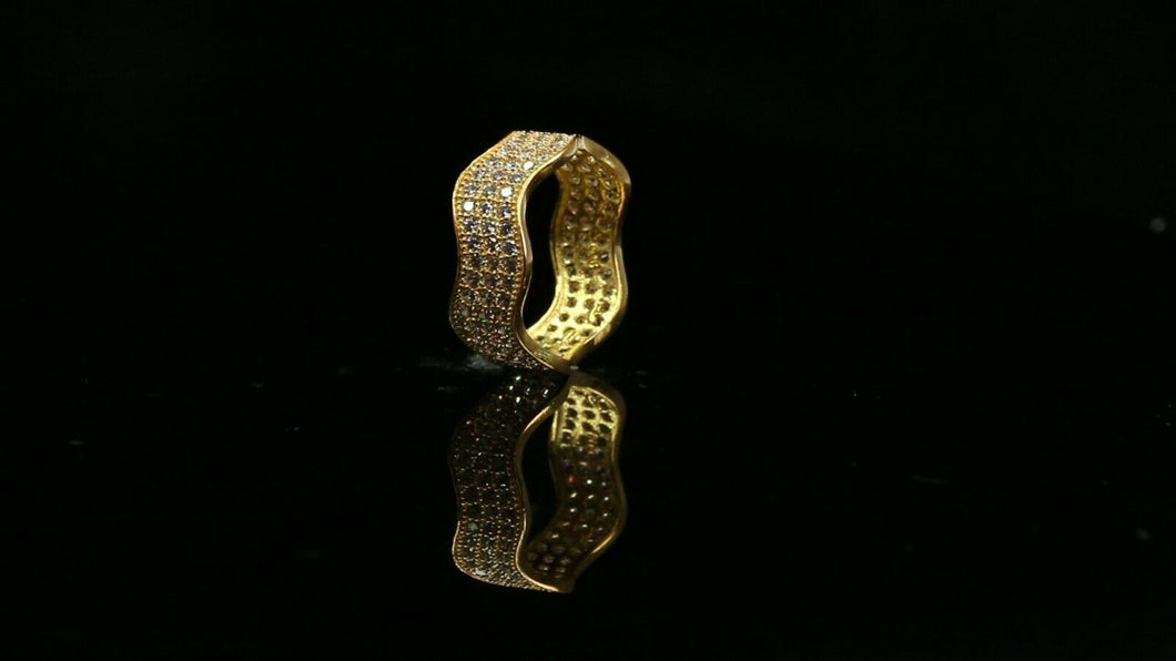 22k Ring Solid Gold ELEGANT Charm Ladies Simple Ring SIZE 5.5