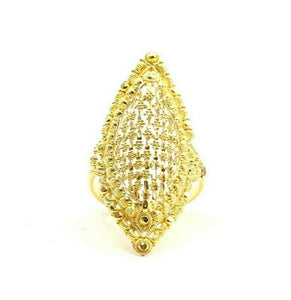 "22k Ring Solid Gold ELEGANT Charm Ladies Simple Ring SIZE 7.75 ""RESIZABLE"" r2682"