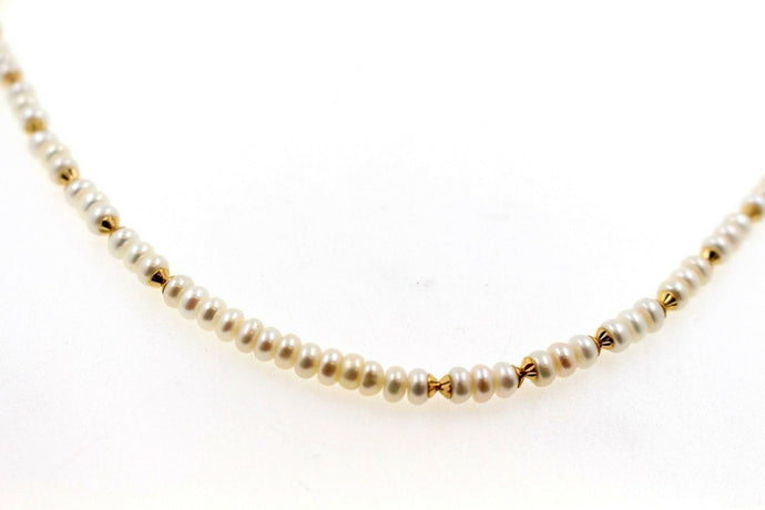 22k 22ct Chain Yellow Solid Beautiful Gold Pearl Necklace Mala Chain c901 | Royal Dubai Jewellers