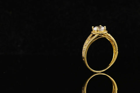 "22k 22ct Solid Gold ELEGANT Ladies Solitaire Ring SIZE 6.5 ""RESIZABLE"" r1853 