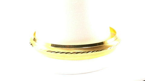 22k Bangle Solid Gold Simple Charm Glossy Mens Kara Design Size 2.75 inch B1127 | Royal Dubai Jewellers