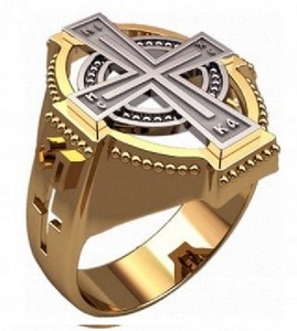 Custom Handmade Elegant Men Ring Unique Modern Cross Design 30382