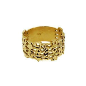 "22k 22ct Solid Gold ELEGANT Charm Mens Pattern Ring SIZE 8 ""RESIZABLE"" r1717 
