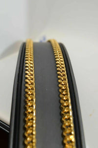 22k Chain Yellow Solid Gold Necklace Exquisite Modern Curb Link 24 inch c1046 | Royal Dubai Jwellers