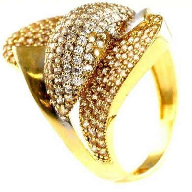 22k 22ct Solid Gold ELEGANT Charm Ladies Designer Ring SIZE 8