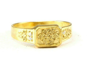 "22k Ring Solid Gold ELEGANT Charm Mens Band SIZE 11 ""RESIZABLE"" r2571mon"