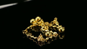 22k Bracelet Solid Gold Simple Dazzling Multi Charm Modern Cable Design B4172