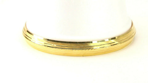 22k Bangle Solid Gold Simple Charm Diamond Cut Men Design Size 2.75 inch B4221