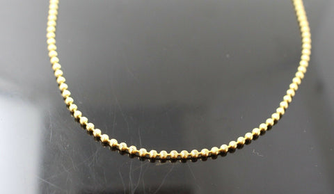 22k Chain Yellow Solid Gold Rope Necklace Simple Ball Design 18 inch length c576 | Royal Dubai Jewellers