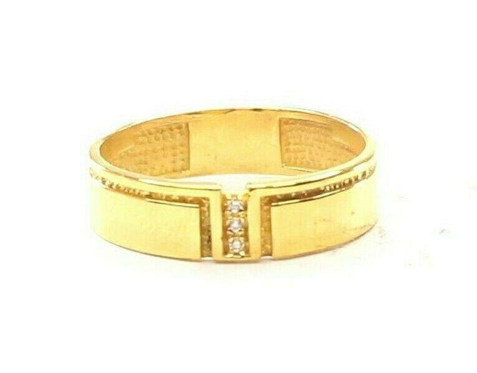 22ct 22k Solid Gold Elegant Modern Design Mens  Ring Size R2038mon | Royal Dubai Jewellers