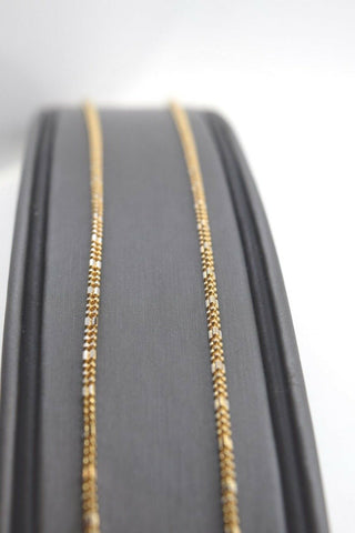 22k Chain Yellow Solid Gold Necklace Exquisite Modern TwoTone Beads Design c1064 | Royal Dubai Jewellers