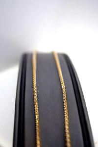 22k Chain Yellow Solid Gold Necklace Exquisite Modern TwoTone Cable Design c1058