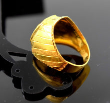 "22k Solid Gold ELEGANT MENS Ring Exquisite Design ""RESIZABLE"" mf R516 
