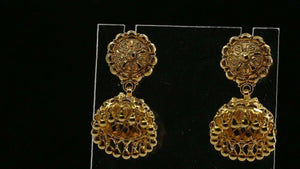 22k 22ct Solid Gold ELEGANT Classic Jhumki Small Size Earring  Design E6095 | Royal Dubai Jewellers