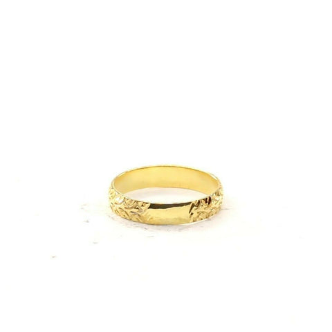 22ct 22k Solid Gold Elegant Charm Diamond Cut Ladies Ring Size R2050mon | Royal Dubai Jewellers