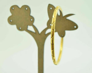 """CHOOSE YOUR SIZE"" 22k 22ct Solid Gold 3.1mm BABY BANGLE BRACELET Children cb25 