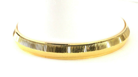 22k Bangle Solid Gold Simple Charm Diamond Cut Men Design Size 2.75 inch B4218