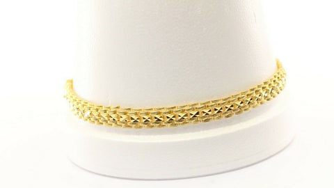 22k Bracelet Solid Gold Simple Exquisite Pattern Design LENGTH 8.8 inch B1057 | Royal Dubai Jewellers