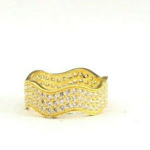 "22k Ring Solid Gold ELEGANT Charm Ladies Simple Ring SIZE 5.5 ""RESIZABLE"" r2646"