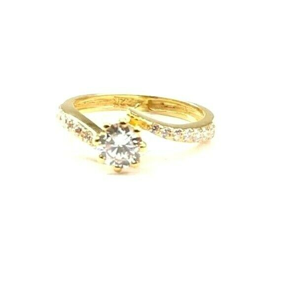 22k Ring Solid Gold ELEGANT Charm Ladies Simple Ring SIZE 5.25