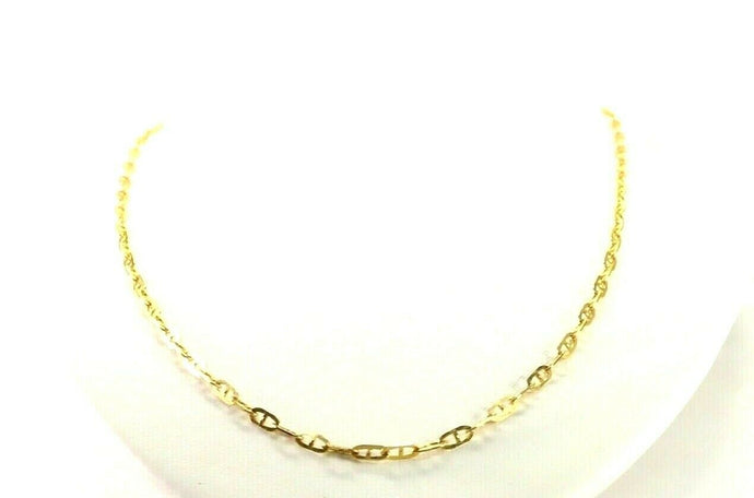 22k Chain Yellow Solid Gold Chain Necklace Cable Design Charm Length 20