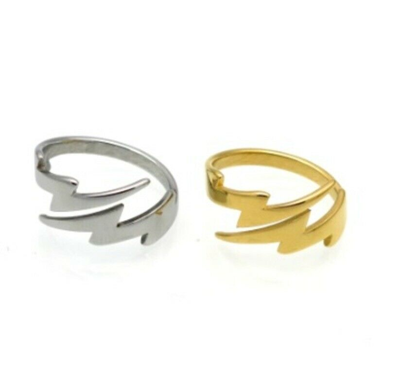 Solid Gold Ring Simple Double Lighting Design SM34