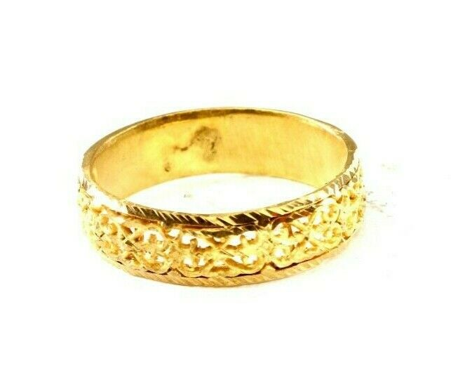 22k Ring Solid Gold ELEGANT Charm Ladies Band SIZE 11.25