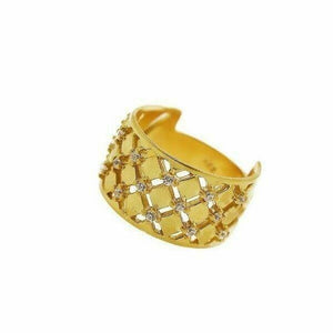 "22k 22ct Solid Gold ELEGANT Charm Ladies Modern Ring SIZE 8 ""RESIZABLE"" r1720 
