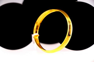 22k 22ct Solid Gold ELEGANT Charm Baby Bangle Simple Design 1.75 inch cb1036 | Royal Dubai Jewellers