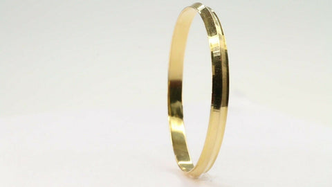 22k Solid Gold ELEGANT Children Kara Bangle Simple Design Size 2 inch CB1194 | Royal Dubai Jewellers