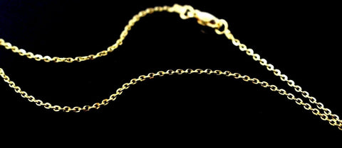 22k 22ct Yellow Solid Gold GORGEOUS THIN CABLE LINK CHAIN NECKLACE c920 | Royal Dubai Jewellers