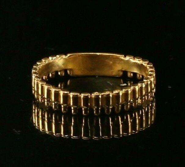 22k Ring Solid Gold ELEGANT Charm Mens Ammo Ring SIZE 10.8