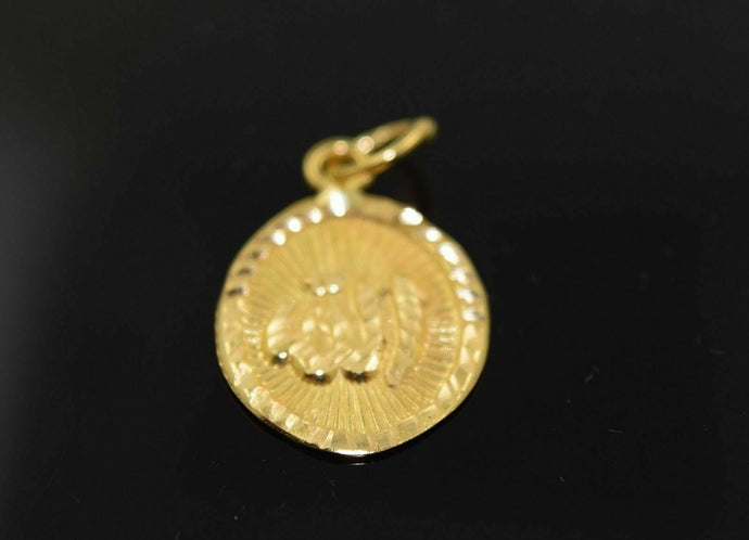 22k 22ct Solid Gold Allah Islam Muslim pendant quran locket Diamond Cut NS | Royal Dubai Jewellers