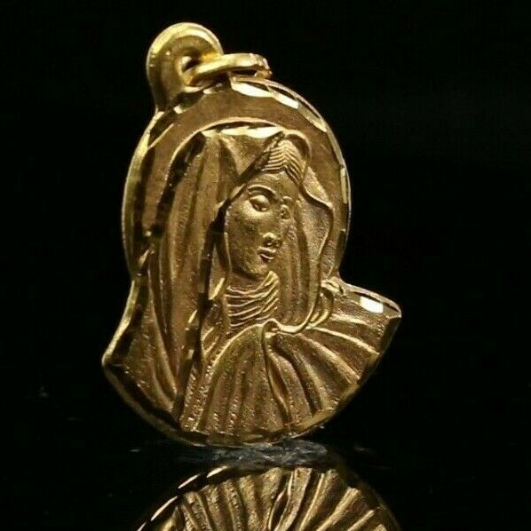 22k Pendant Solid Gold ELEGANT Classic Mother Mary Pendant p2208