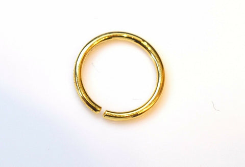 Authentic 18K Yellow Gold Nose Pin Ring n008 | Forever22karat