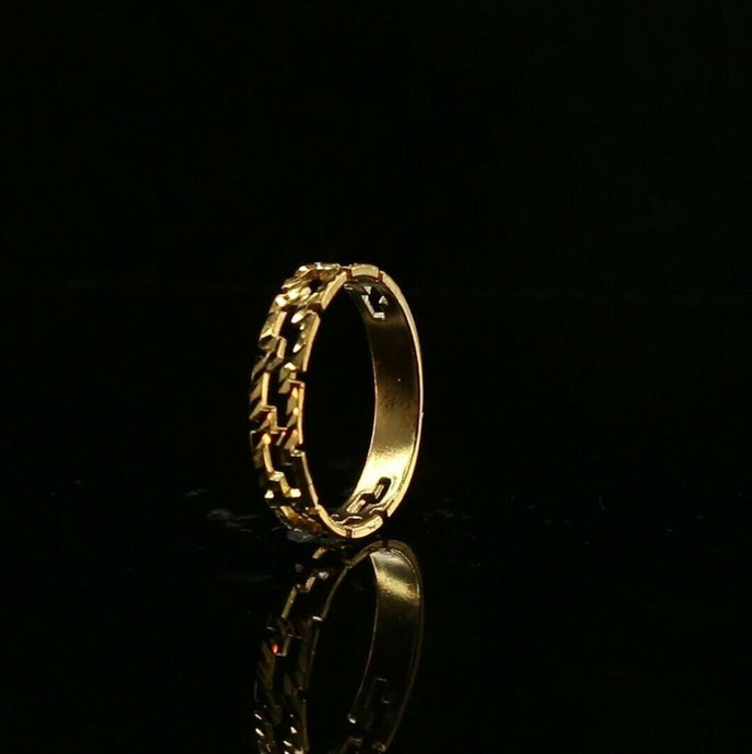 22ct 22k Solid Gold Elegant S Link Modern Design Ladies Ring Size R2073mon | Royal Dubai Jewellers