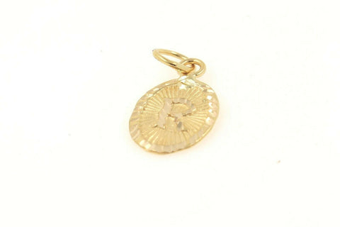 22k 22ct Solid Gold Charm Letter R Pendant Oval Design p1151 ns | Royal Dubai Jewellers