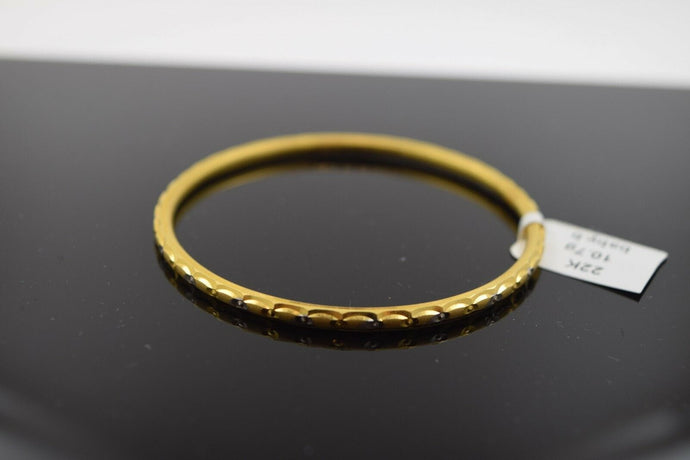 22k 22ct Solid Gold ELEGANT PLAIN BABY CHILDREN BANGLE BRACELET 2040 | Royal Dubai Jewellers
