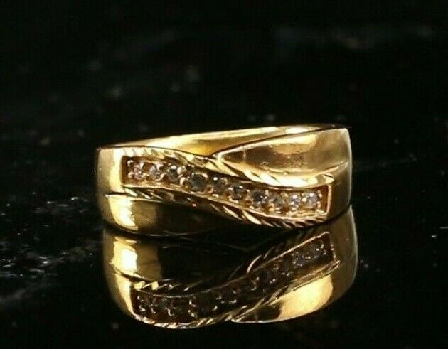 22k Ring Solid Gold ELEGANT Charm Ladies Ring SIZE 5-3/4